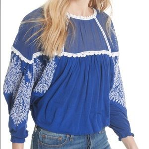 Free People Carly Blouse